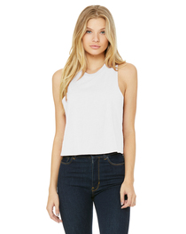 Bella Ladies' Racerback Cropped Tank